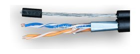 Кабель витая пара LAN SUPRLAN Median FTP Cat.5e 2x2xAWG24 Cu PE Outdoor T-FG8, трос (01-0917)